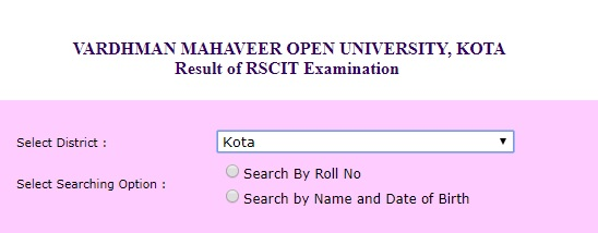 RSCIT Result Login