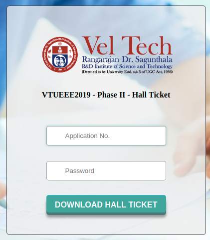 VTUEEE Hall Ticket 2019