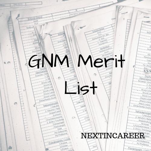 Gnm Merit List Result 2020 Odisha Gnm Anm Provisional Rank List Out
