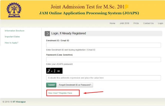 IIT JAM Registration