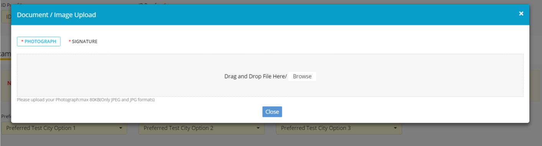 JIPMER Application Form 2019 Image Upload