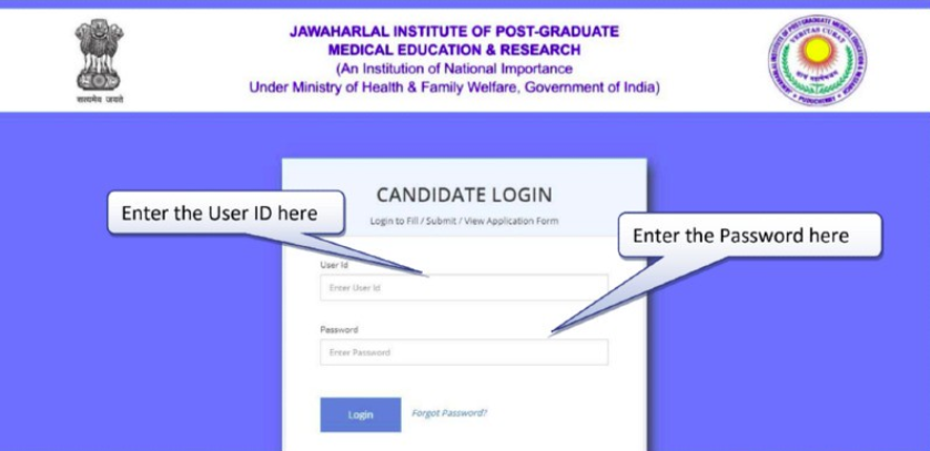 JIPMER B.Sc Nursing Application Form 2019