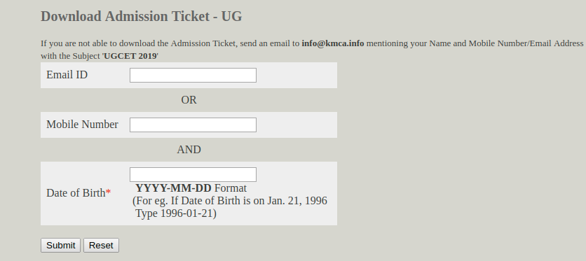 KRLMPCA Admit Card 2019 Login