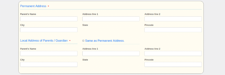 PESSAT Application Address Detail