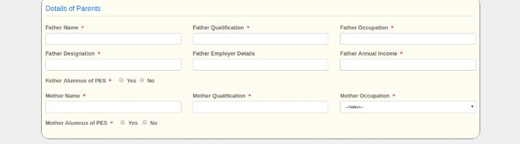 PESSAT Parent Details