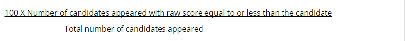 NEET Percentile Score Calculation