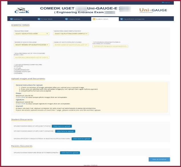 COMEDK Academic Details 2020