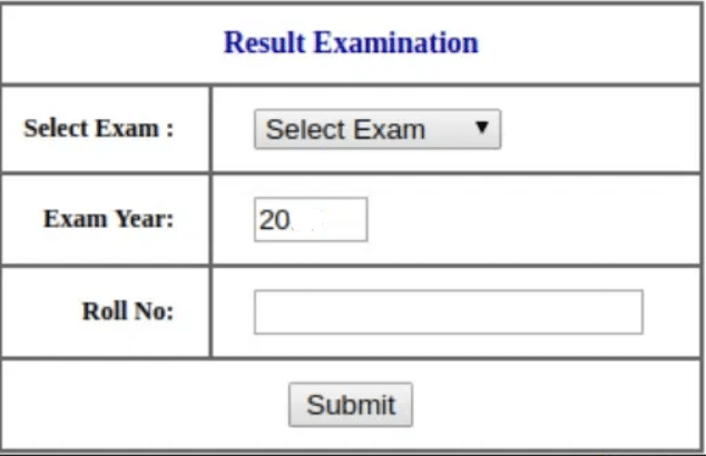 MBOSE 12th Result Login Section