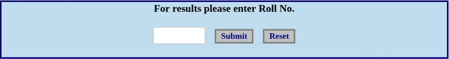 MBOSE 10th Result Login Section