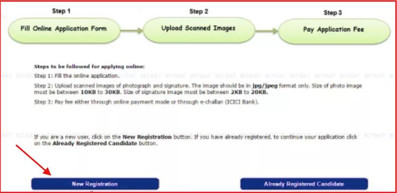 BITSAT 2020 Registration Link