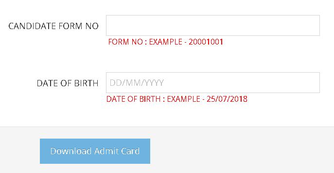 RMLAU Semester Admit Card Login Section