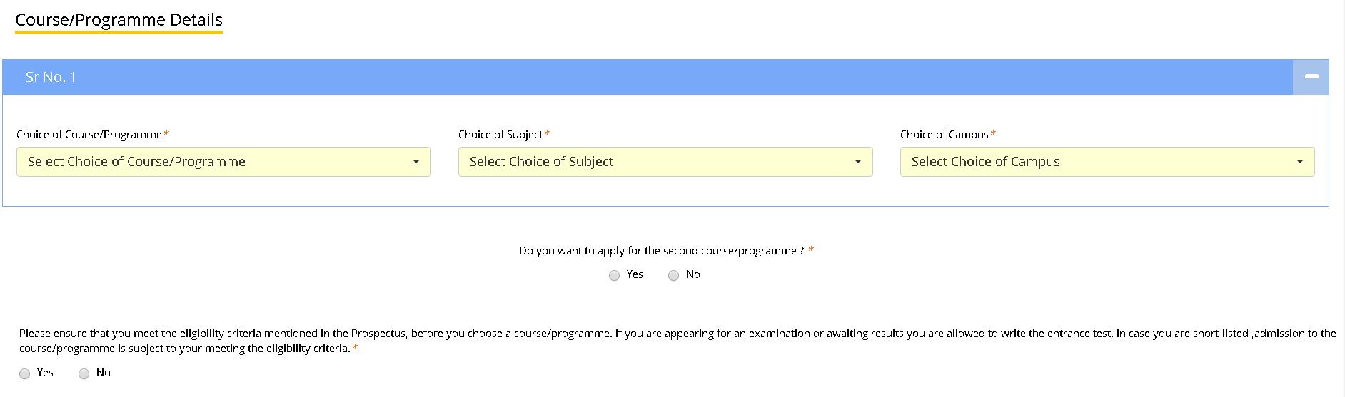 EFLU Application Form Educational Details