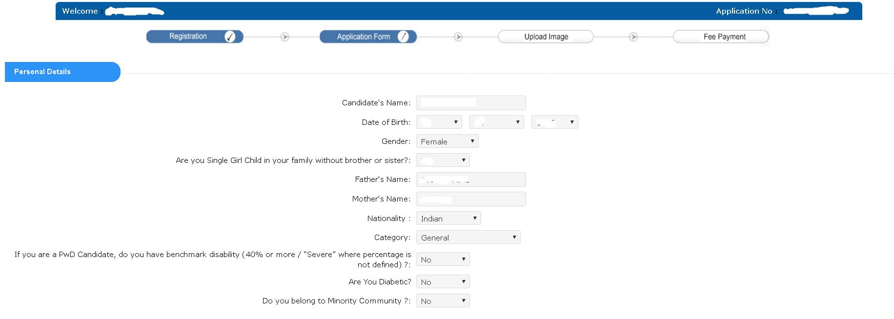 UGC NET Personal Details 2