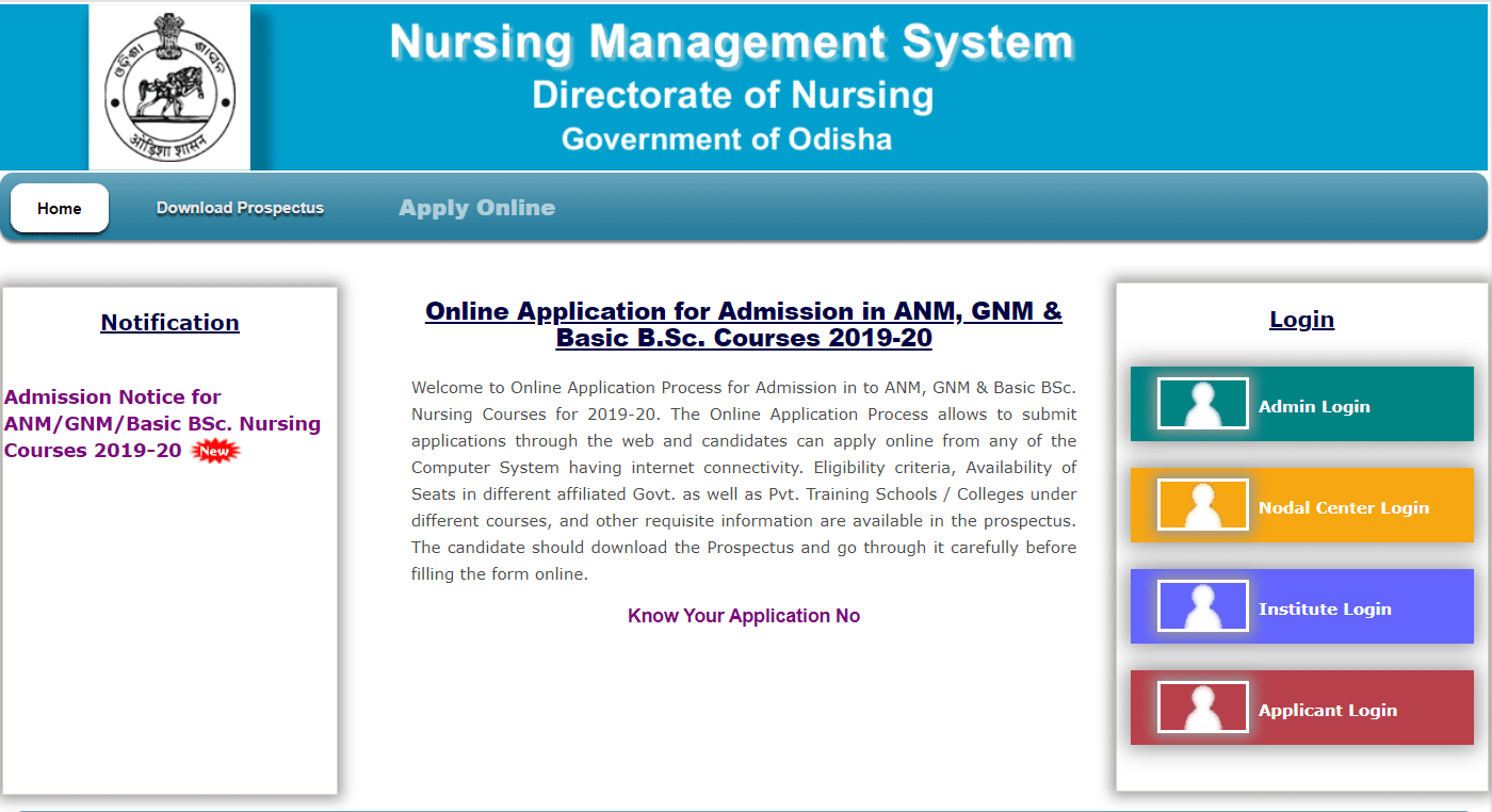 Nursing Odisha GNM Apply Online 2019-20