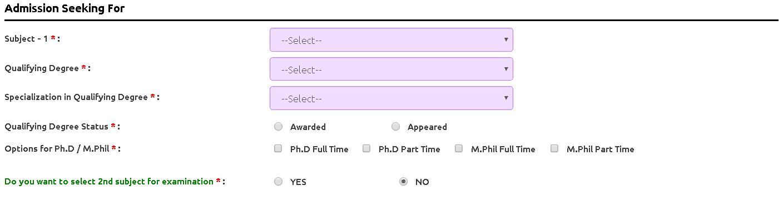 AURCET Application Form Admission Seeking Details