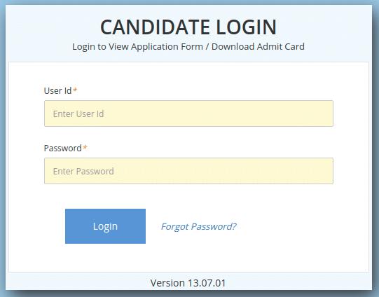 KVPY Candidate Login