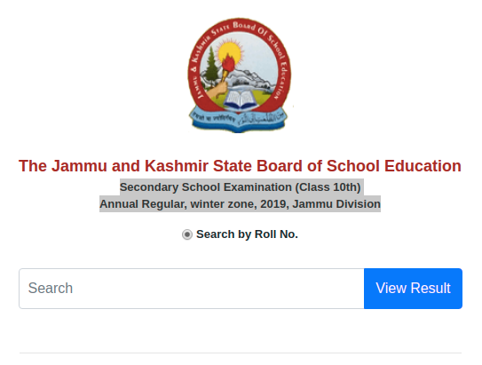 JKBOSE 10th Result