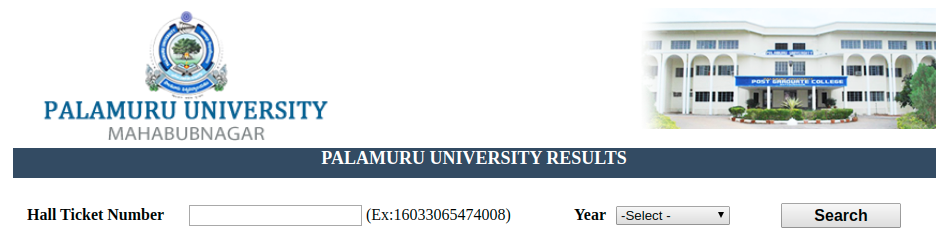 Palamuru University Result