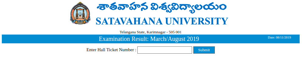 Satavahana University Result
