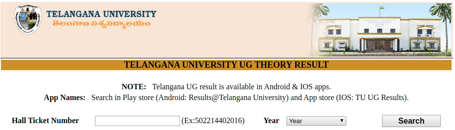 Telangana University Results