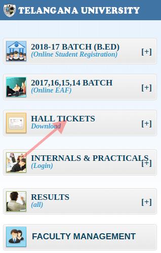 Telangana University Degree Hall Tickets