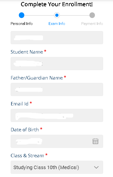 ACST Registration Enrollment Completion