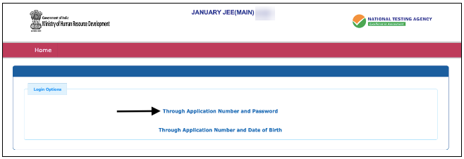 JEE Main 2021 Application no. and Password