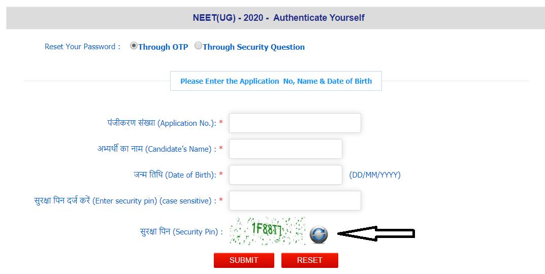 NEET Security Pin