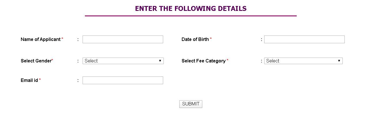 Kerala University Candidate Registration Details