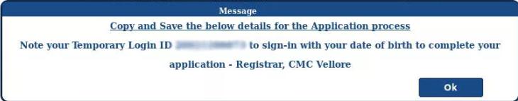 CMC MBBS Application FORM