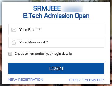 SRMJEEE Forgot Password