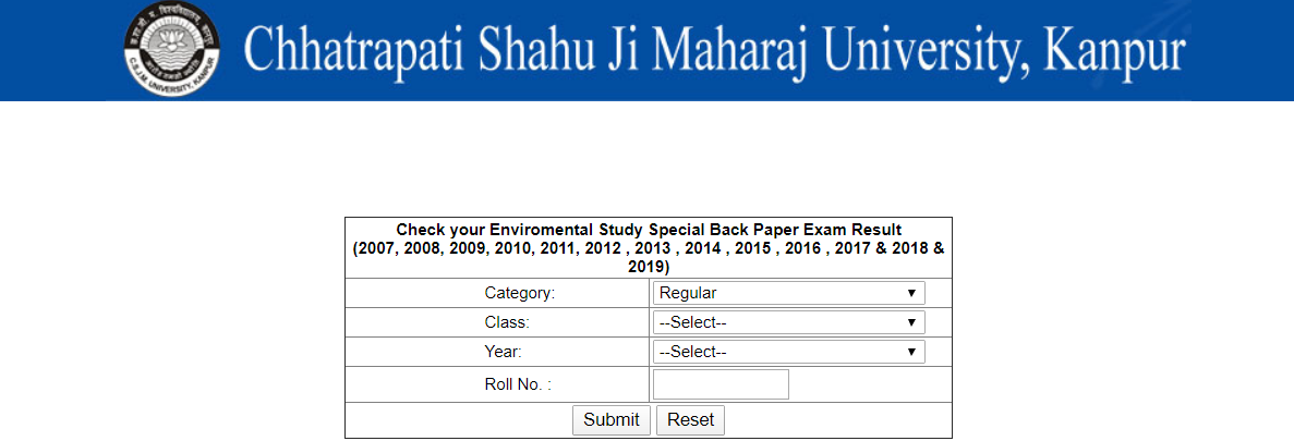 CSJMU Back Paper Result