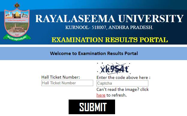 Rayalaseema University Results