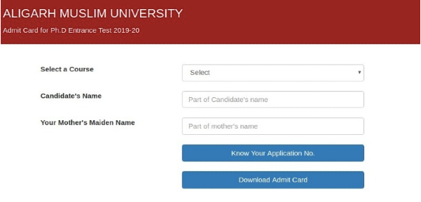Retrieve AMU Application Number