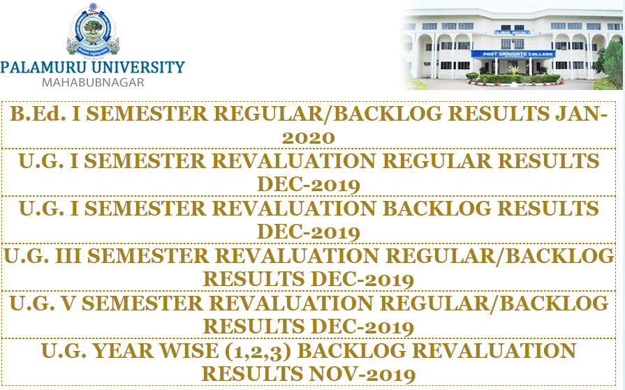 Palamuru University Result
