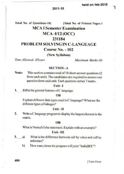 coeju exam question papers