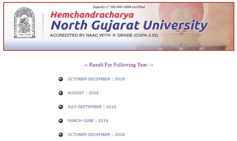 HNGU-Result-October-November-2019