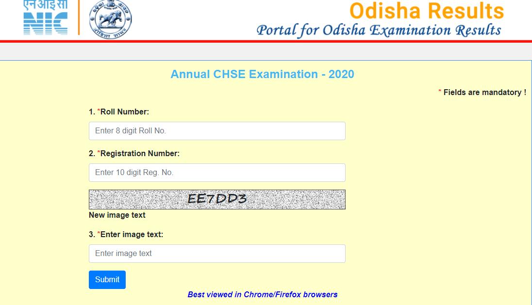Odisha 12th Board Result