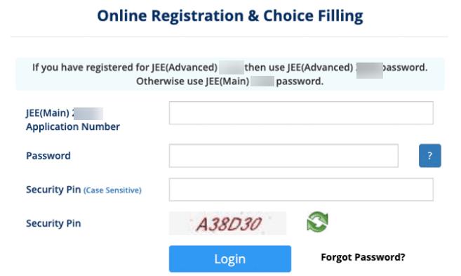 JEE Advanced Choice Filling