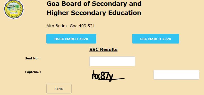 Goa Board SSC Result