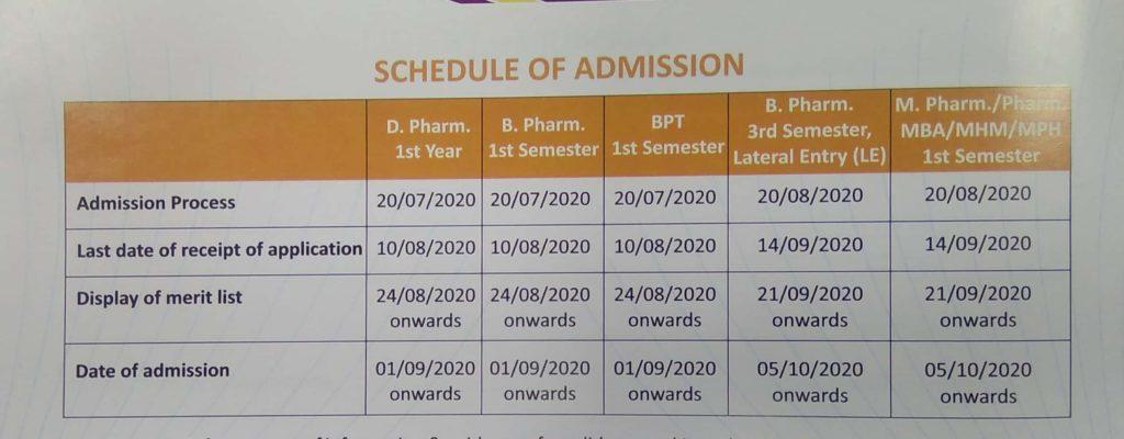 DPSRU Schedule