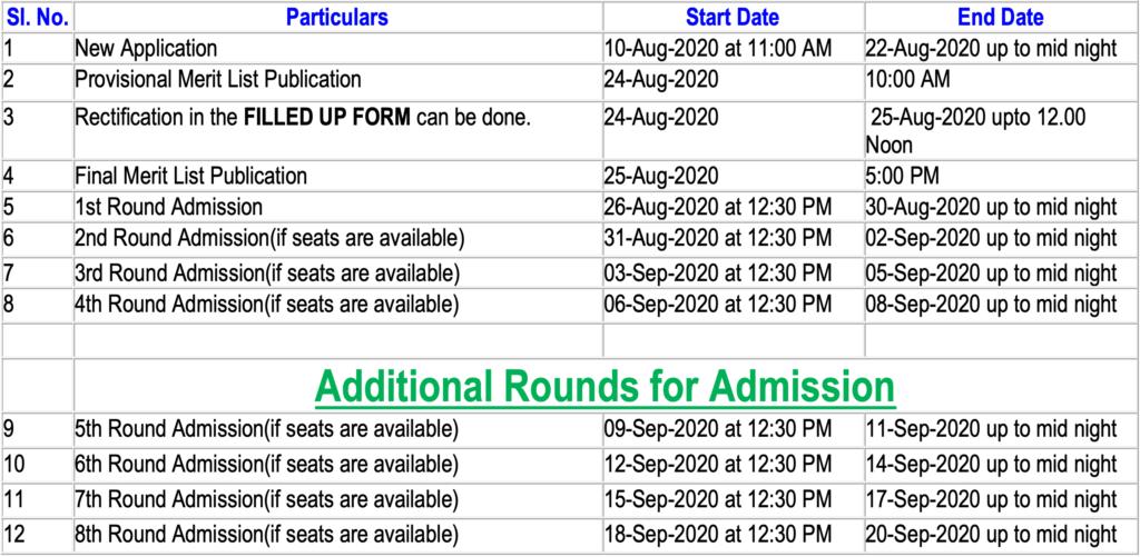 Chakdaha College Schedule