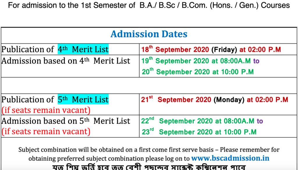 Bankim Chandra College Schedule