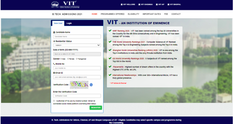 VITEEE Registration