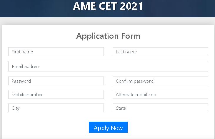 AME CET Application Form