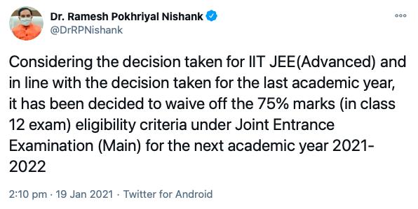JEE Main eligibility criteria