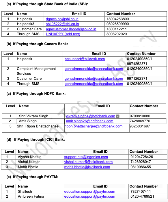 jee main fee payment helpline